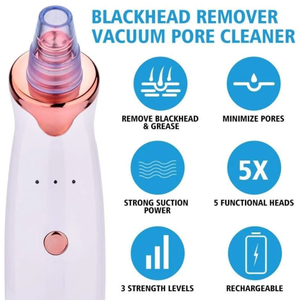 Blackhead Removal Pore and Blackhead Vacuum Dermasuction Pore Cleanser Device