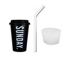 Load image into Gallery viewer, Stainless Steel Travel Coffee Mugs Tea Cups With Cup Sleeve Lid Straw