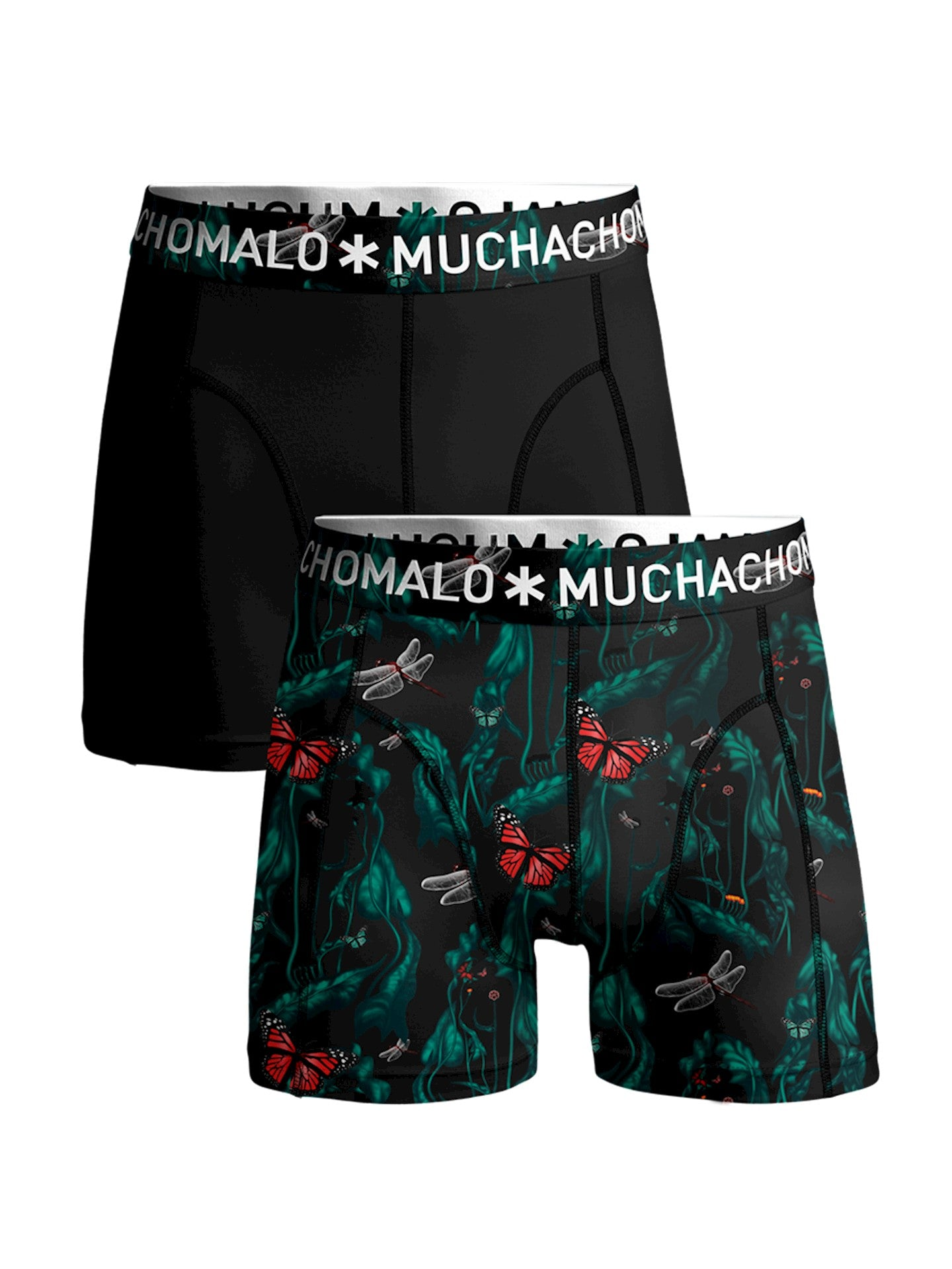 Men 2-Pack Shorts Women WOPTI1010 - Jambelles Muchachomalo S / 01 Print/Black