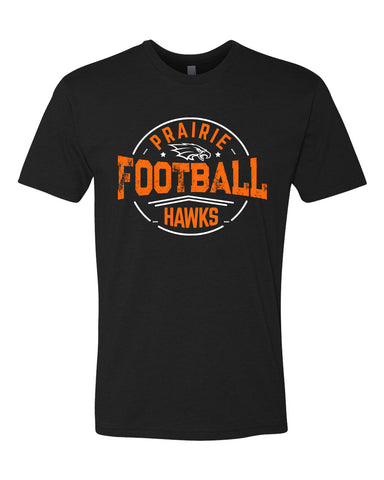 Prairie Hawks Football - Black - Adult