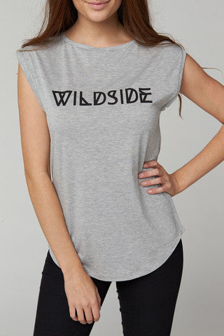 Slogan WILDSIDE Tee - HELLO PARRY Australian Fashion Label