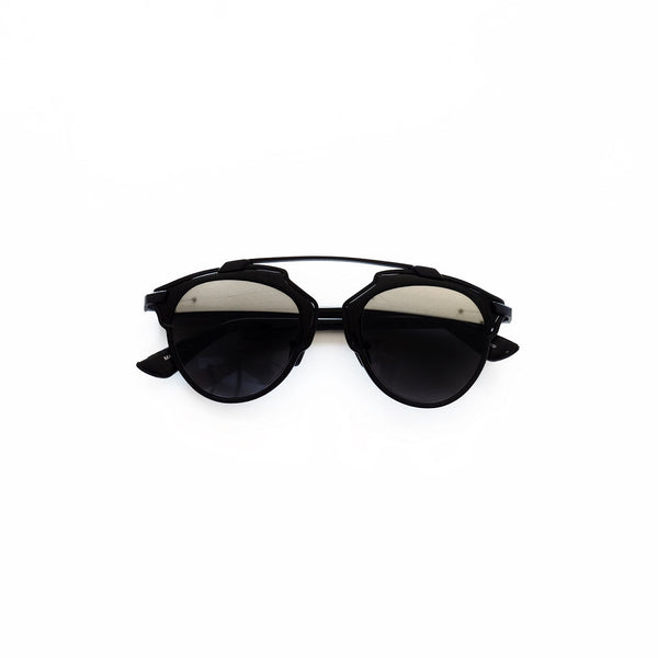 Tuscany Black Clubmaster Sunglasses