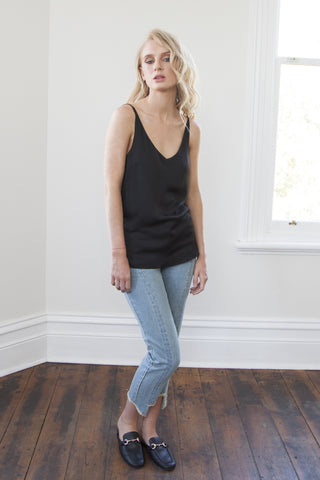 Louise Silky Black Cami