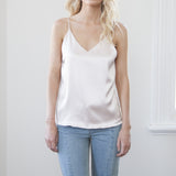 Carmela Silk Cami Top- Blush