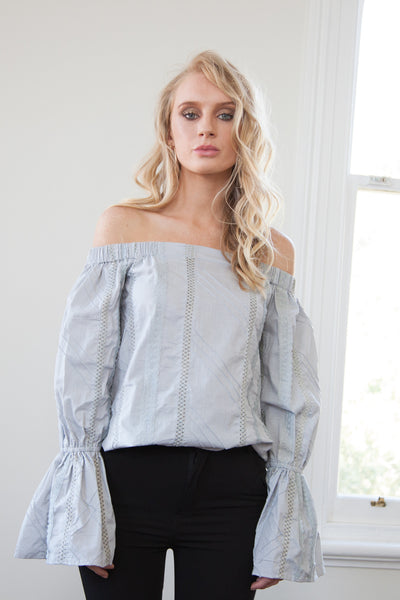 Sera Off Shoulder Texture Top