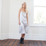 Alyssa Stripe Silky Slip Dress