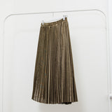GRADY METALLIC PLEATED SKIRT