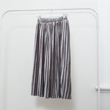 DANI VELVET PLEATED SKIRT - GREY