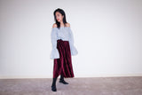 JOEY VELVET PLEATED SKIRT