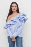 Juliet One Shoulder Ruffle Top
