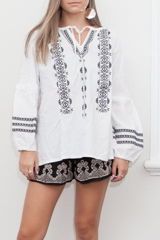 TALITA EMBROIDERED TOP
