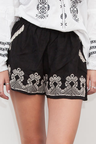 JEANA EMBROIDERED SHORTS