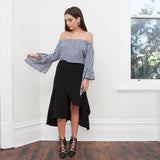 Iva Off Shoulder Gingham Top