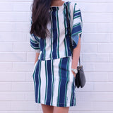 Georgia Striped Two Piece Set
