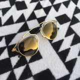 Norway Geometric Gold Sunglasses - HELLO PARRY Australian Fashion Label
