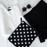 Ally Polkadot Oversize Clutch - HELLO PARRY Australian Fashion Label