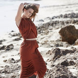 Amber Pleated Skirt - HELLO PARRY Australian Fashion Label
