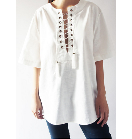 Abby Lace Up Top - HELLO PARRY Australian Fashion Label