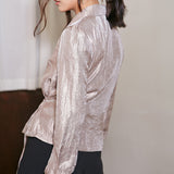 Abigail Silky Tie Front Jacket - Lavender - HELLO PARRY Australian Fashion Label