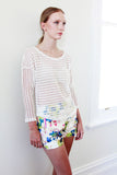 Andie Semi-See-Through Stripe Knit - HELLO PARRY Australian Fashion Label