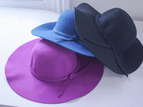 Andrea Wool Floppy Hat - HELLO PARRY Australian Fashion Label