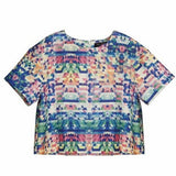Ava Geometric Print Top - HELLO PARRY Australian Fashion Label