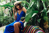 Bella Pom Pom Maxi Dress - Blue