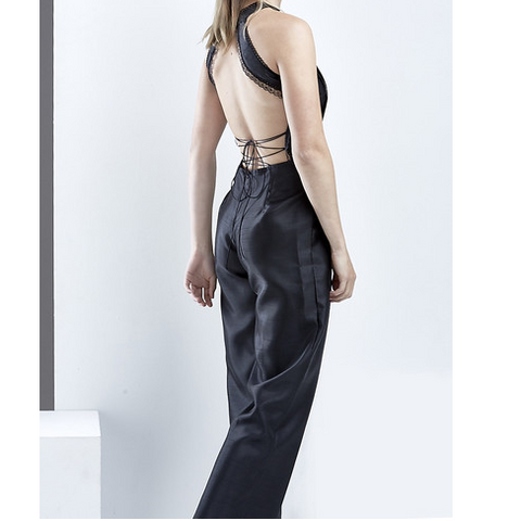 Backless Lace-up Jumpsuit - HELLO PARRY Australian Fashion Label