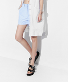 Belle Pastel Blue Checked Tailored Shorts - HELLO PARRY Australian Fashion Label