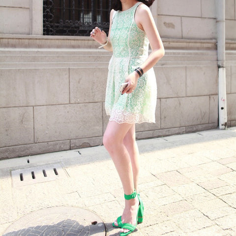 Bianca Minty Lace Dress - HELLO PARRY Australian Fashion Label