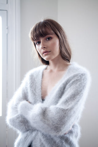 Brodie Fluffy Angora Cardigan - HELLO PARRY Australian Fashion Label