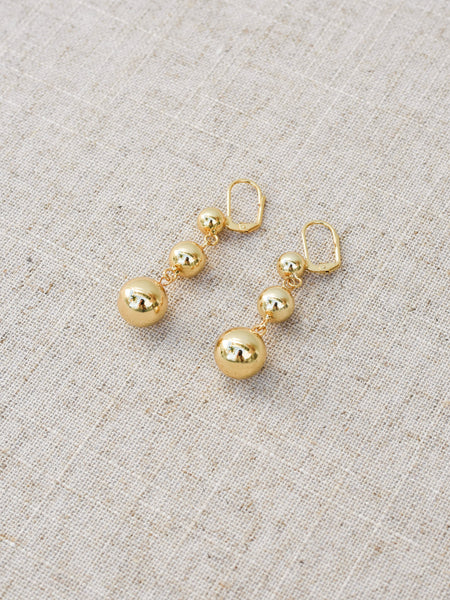 Cere Luxe Trio Ball Earrings