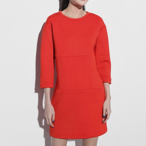 Carmen Neoprene Red Dress - HELLO PARRY Australian Fashion Label