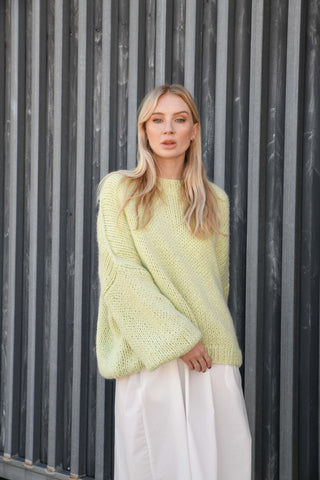DESIREE OVERSIZE MERINO WOOL JUMPER- MEADOW