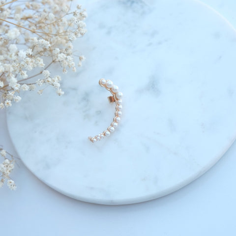 Cara Mini Pearl Ear Cuff - HELLO PARRY Australian Fashion Label