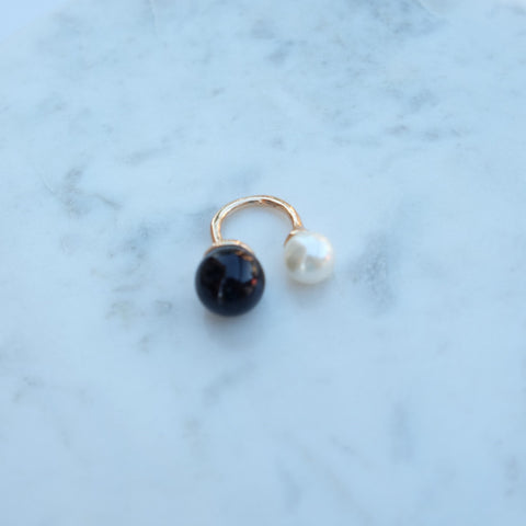 Rachel Two Tone Pearl Duo Ring - HELLO PARRY Australian Fashion Label
