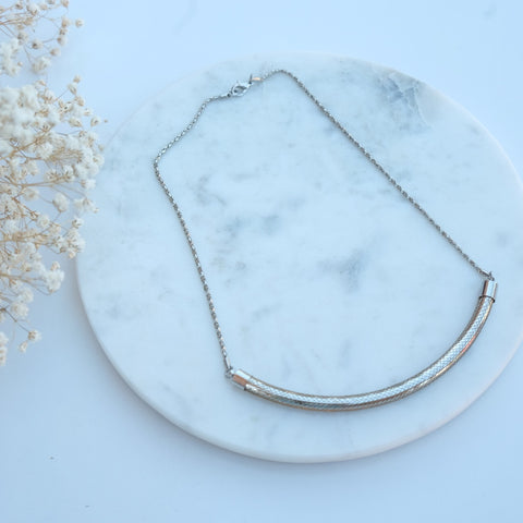 Kate Silver Bar Mesh Necklace - HELLO PARRY Australian Fashion Label