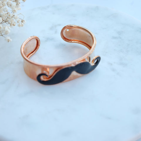 Movermber Mustache Bangle - HELLO PARRY Australian Fashion Label
