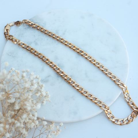 Blake Classic Gold Chain Link Necklace - HELLO PARRY Australian Fashion Label
