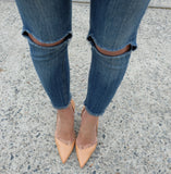 Taylor Vintage Wash Ripped Knee Jeans