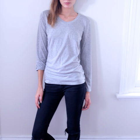 Paige Pocket Basic Top - HELLO PARRY Australian Fashion Label