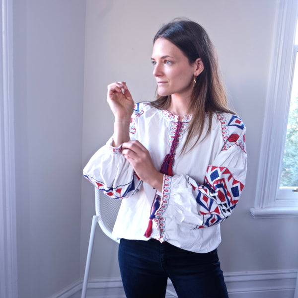 EMELINE EMBROIDERED BLOUSE