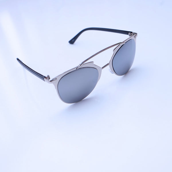 Morrocco Silver Frame Mirror  Sunglasses - HELLO PARRY Australian Fashion Label