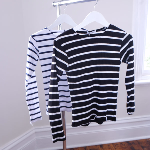 Verona Classic Striped Long Sleeve Shirt - HELLO PARRY Australian Fashion Label