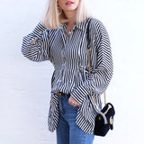 ELSE OVERSIZE STRIPE SHIRT