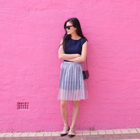 Laya Organza Skirt Over A Dress - HELLO PARRY Australian Fashion Label