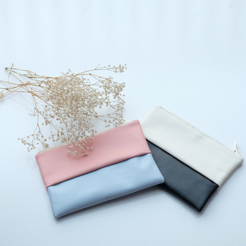 Marleigh Bi-Colour Zip Clutch - HELLO PARRY Australian Fashion Label