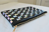 Luna Holographic Checkered Clutch