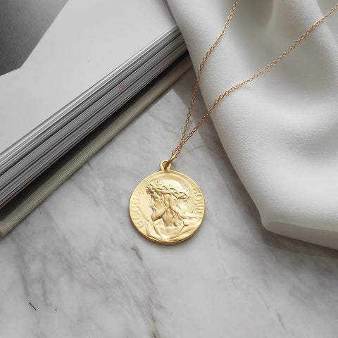 Double Face Gold Coin Necklace