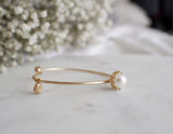 Elena Pearl Claw Gold Cuff Bracelet - HELLO PARRY Australian Fashion Label